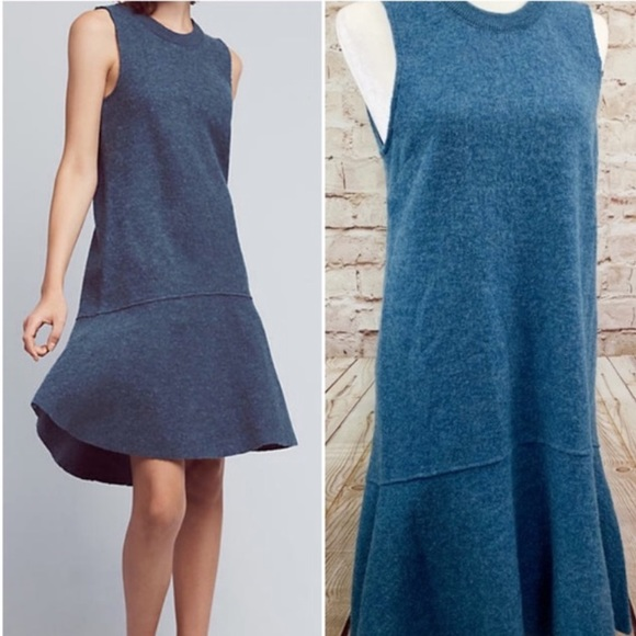 Anthropologie Dresses & Skirts - Knitted and knotted blue wool dress